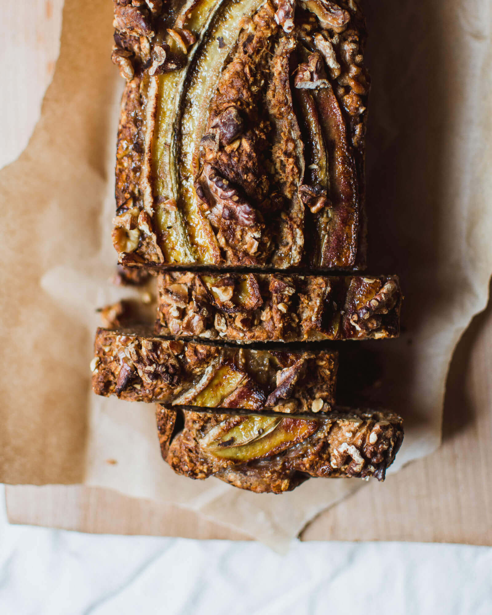 High Protein Banana & Blueberry Oat Bread