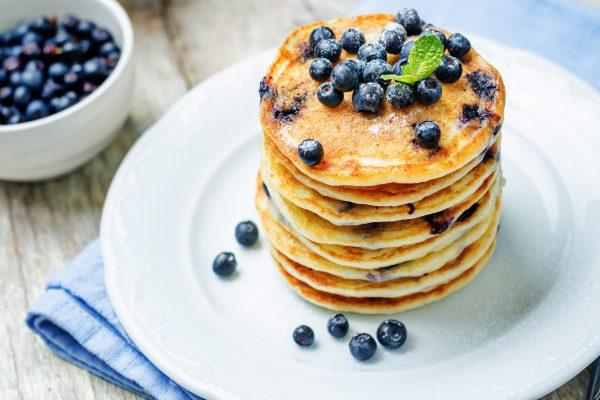 Vanilla and Blueberry Protein Pancakes Recipe