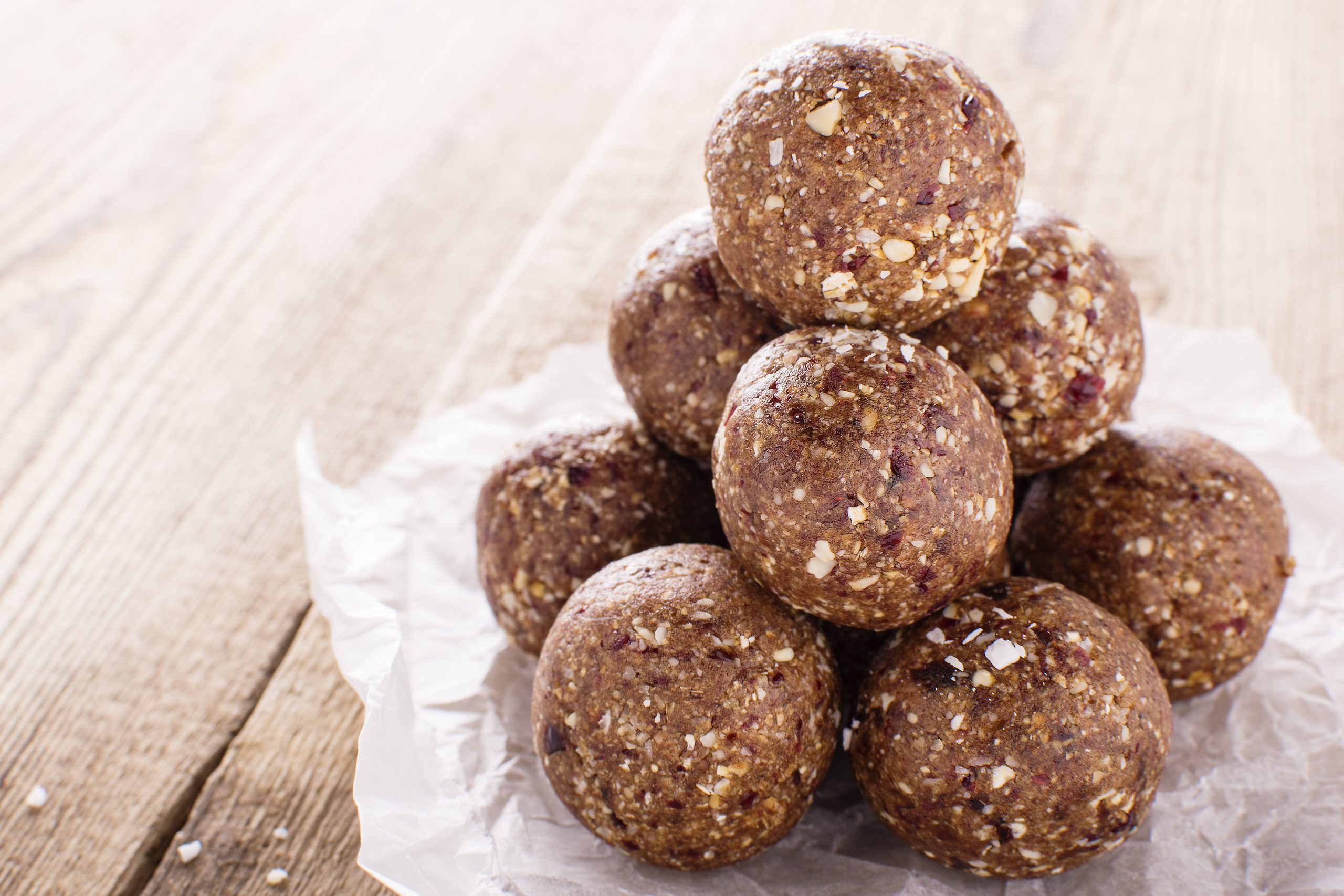 Double Chocolate and Cranberry Energy Balls