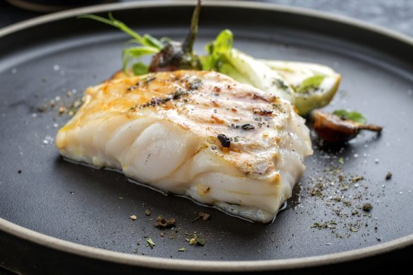 Miso Cod with Pak Choi and Sesame Seeds