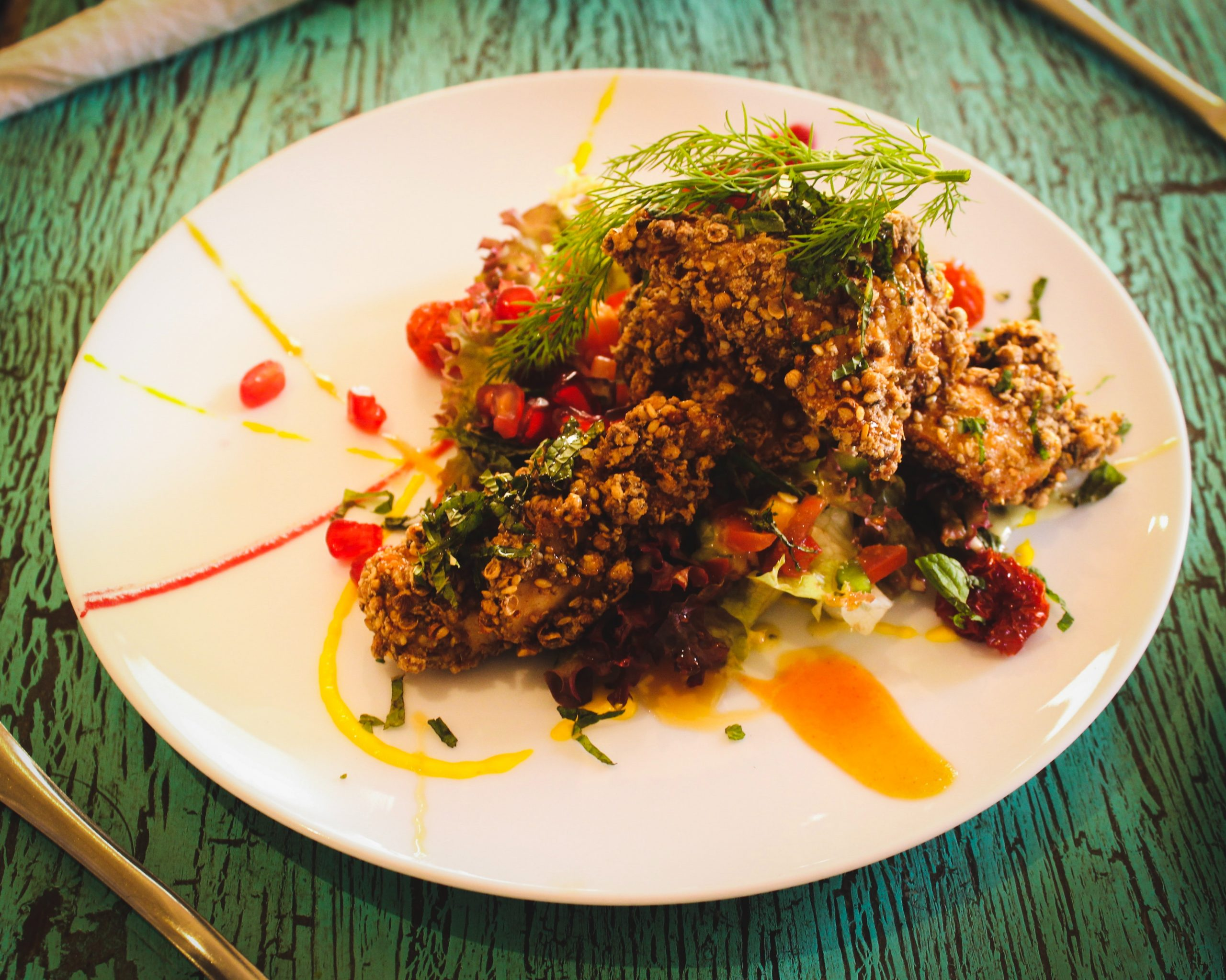 Chicken Thighs With Oats and Grain Mustard