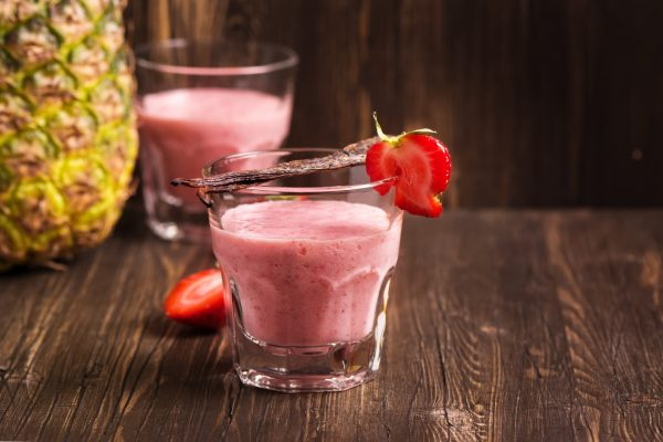 Vitamin C-Rich Pineapple and Strawberry Protein Smoothie